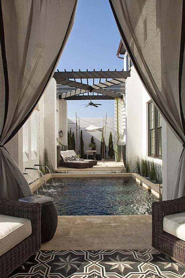 28 Mindbogglingly Alluring Small Backyard Designs Beautified by Swimming Pools homesthetics backyard (17)