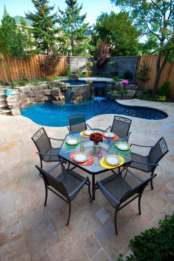 28 Mindbogglingly Alluring Small Backyard Designs Beautified by Swimming Pools homesthetics backyard (5)