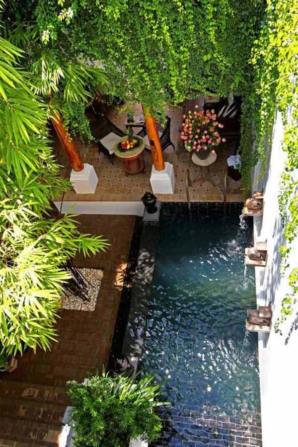28 Mindbogglingly Alluring Small Backyard Designs Beautified by Swimming Pools homesthetics backyard (6)