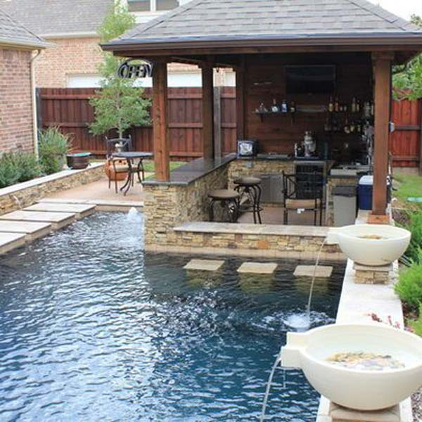28 Mindbogglingly Alluring Small Backyard Designs Beautified By Swimming  Pools Homesthetics Backyard (8)