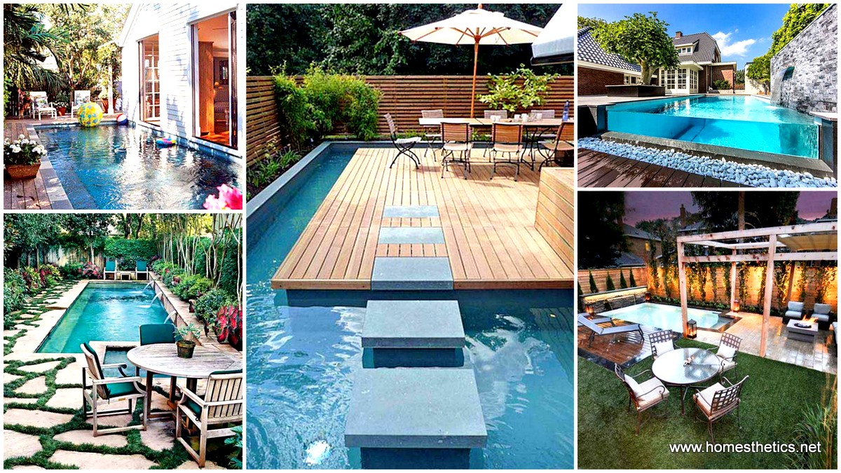28 mindbogglingly alluring small backyard designs for Small backyard swimming pool designs
