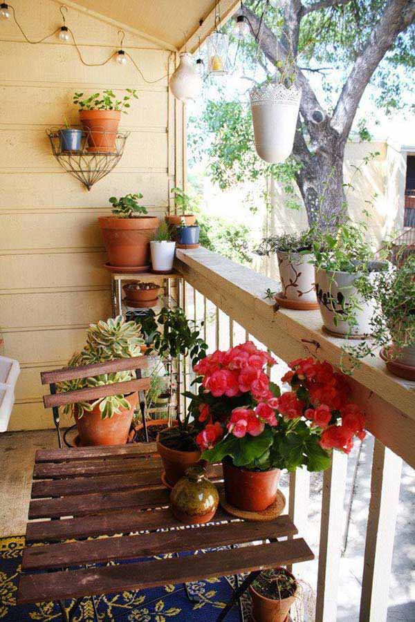30 Ways To Decorate Your Small Balcony Into An Oasis Of