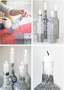 Decorate your home with wine bottle crafts homesthetics for Most beautiful wine bottles