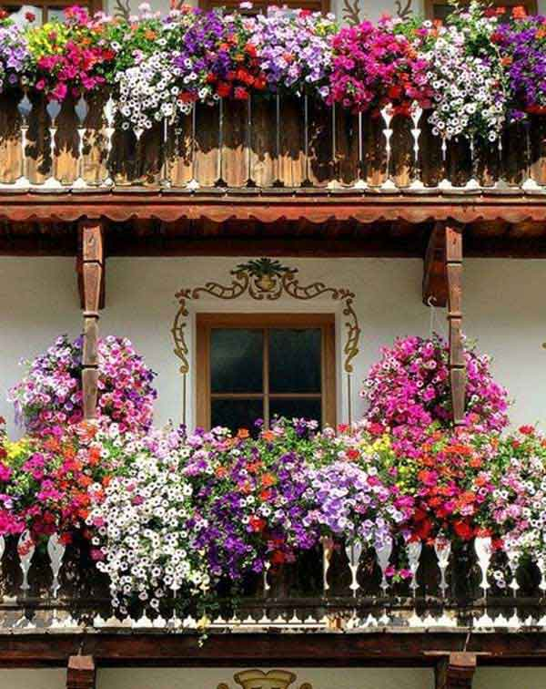Inspiration Pack Containing 23 of the World`s Most Beautifully Flowered Balcony Gardens homesthetics decor ideas (11)