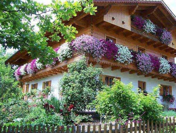 Inspiration Pack Containing 23 of the World`s Most Beautifully Flowered Balcony Gardens homesthetics decor ideas (6)