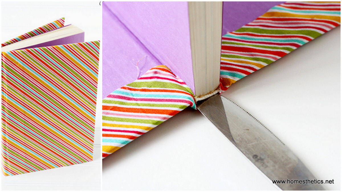 Fabric Book Cover For Sale ~ Diy cheap and creative fabric covered books