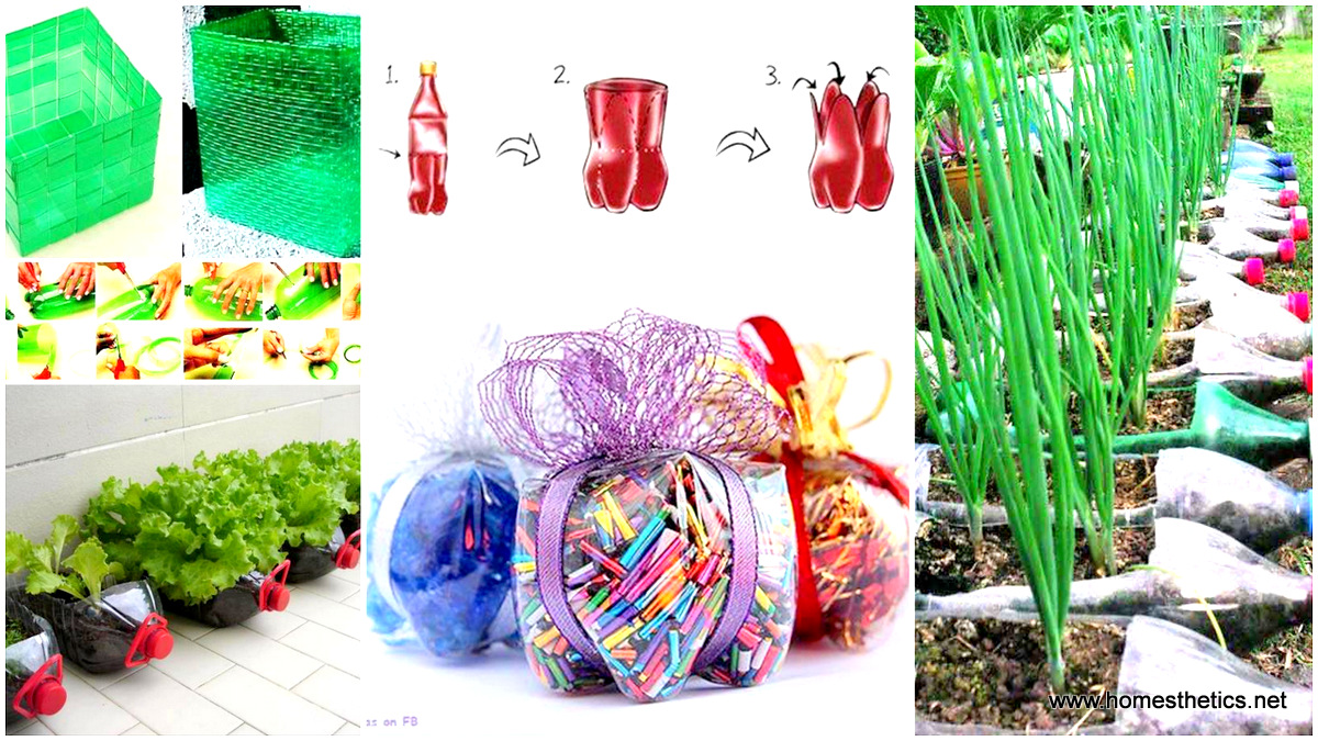 23 insanely creative ways to recycle plastic bottles into for Homemade recycling projects