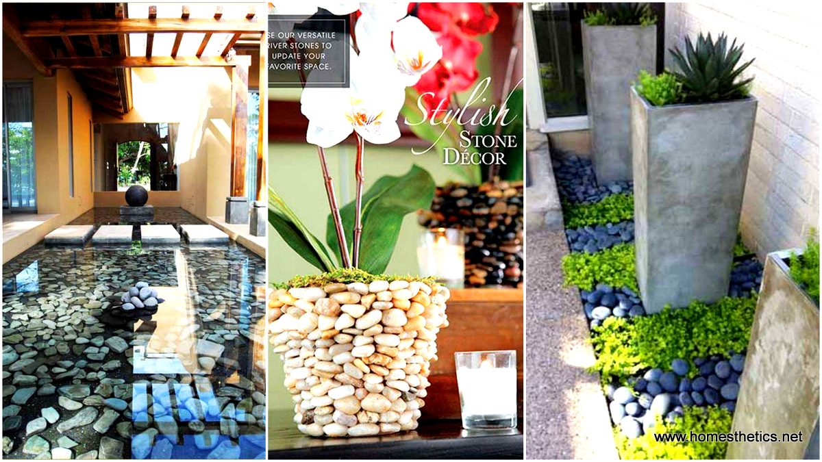 36 Examples on How to Use River Rocks in Your Decor Through ...