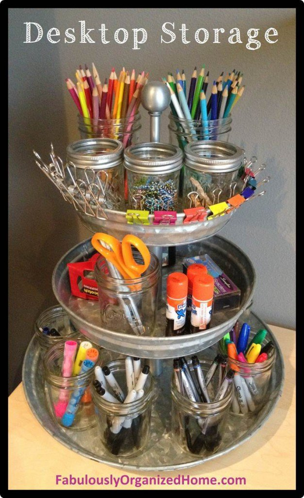 14 Smart Ways to Store and Organize Your Desk in DIY Projects homesthetics diy desk organzing ideas (12)