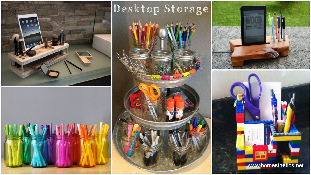 14 Smart Ways to Store and Organize Your Desk in DIY Projects