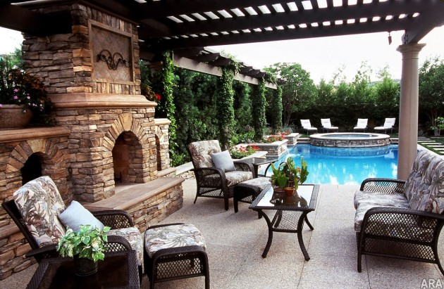 16 Extraordinary Beautiful and Relaxing Patio Designs For Your Backyard homesthetics backyard landscaping design (13)