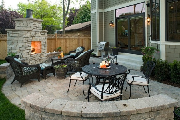 16 Extraordinary Beautiful and Relaxing Patio Designs For ... on Basic Patio Ideas id=21876