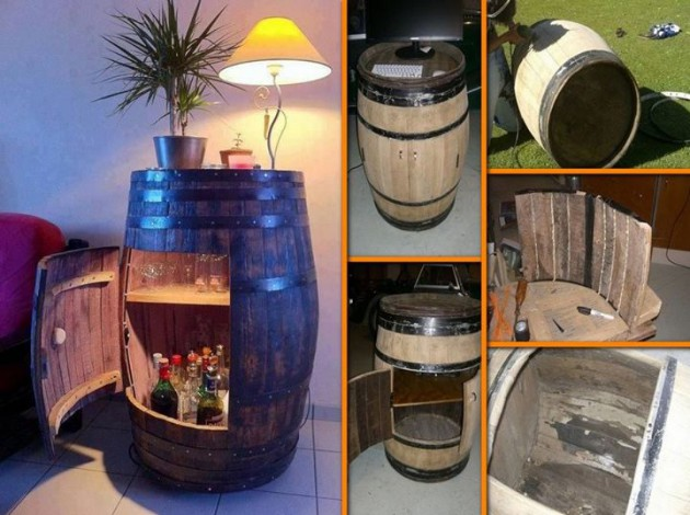 #15 Rustic Old Barrel Minibar