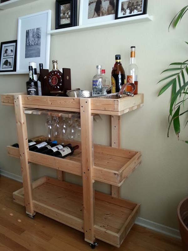diy bar. 16 Small DIY Home Bar Ideas That Will Enhance Your Parties homesthetics bar  diy projects