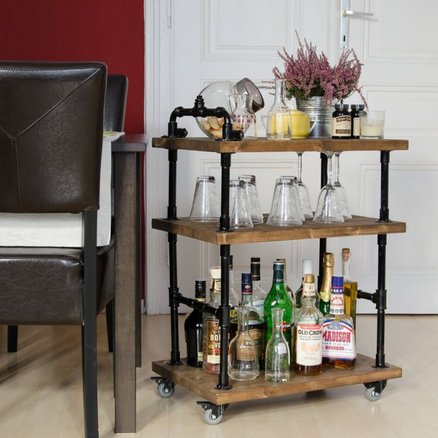 16 Small DIY Home Bar Ideas That Will Enhance Your Parties homesthetics bar diy projects (9)