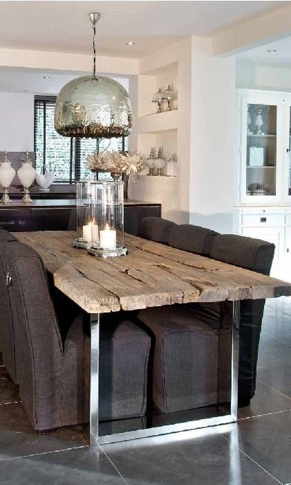 17 Simple and Magnificent Ways to Beautify Your Household Through Wood DIY Projects rough dinner table texture homesthetics