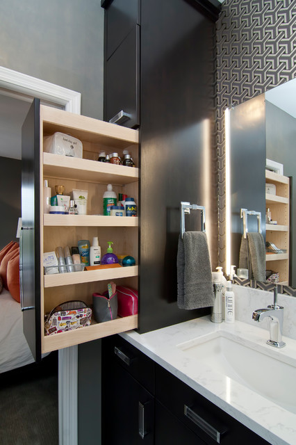#4 Pull Out Cabinets Are Highly Efficient. 18 Smart DIY Bathroom Storage  Ideas ...
