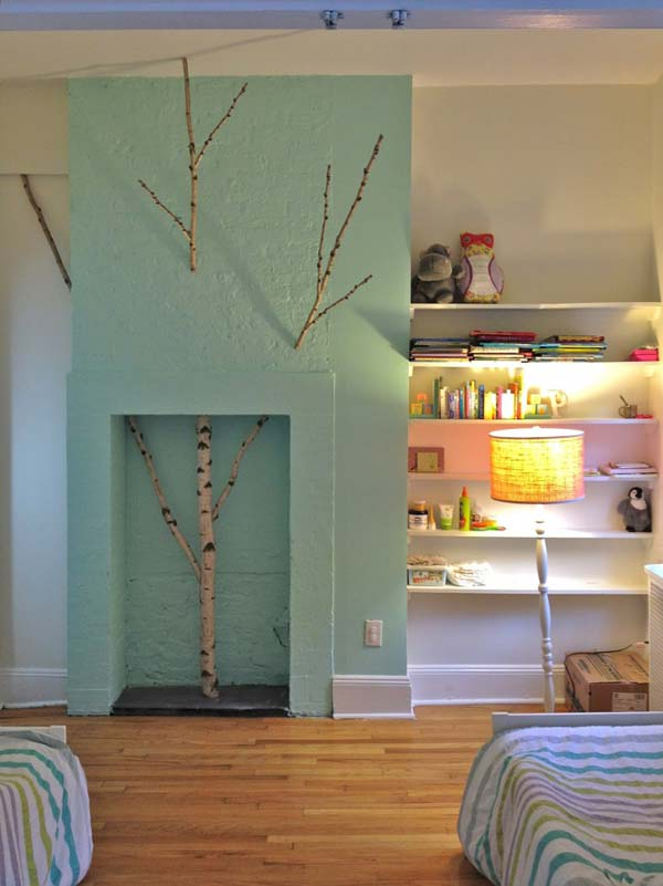 #2 Frozen Tree Installation In The Children Bedroom