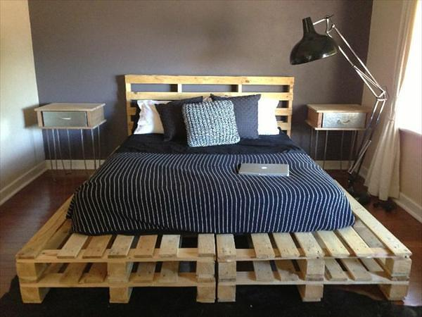 #25 SIMPLE HAIRPIN LEGS SIDE-TABLES BY PALLET BED