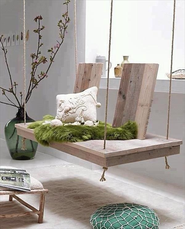 #10 WOODEN PALLET SWING INDOOR