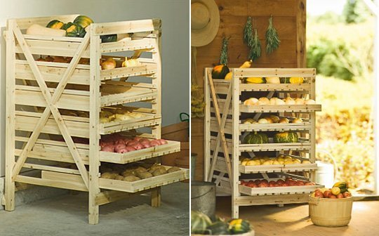 #6 WOODEN PALLET COMPLETELY TRANSFORMED INTO VEGETABLE STORAGE UNIT