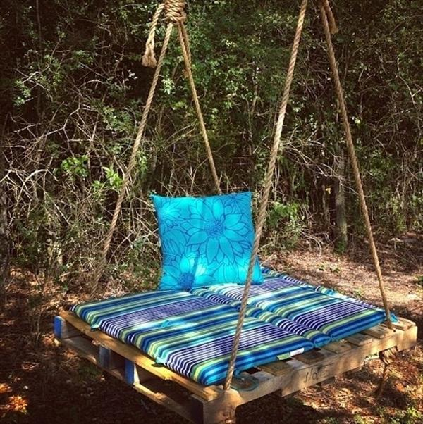 #23 OUTDOOR WOODEN SWING TO SOOTHE YOUR NERVES