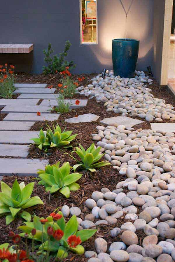 36 Examples on How to Use River Rocks in Your Decor Through DIY Projects homesthetics river rocks diy projects (11)
