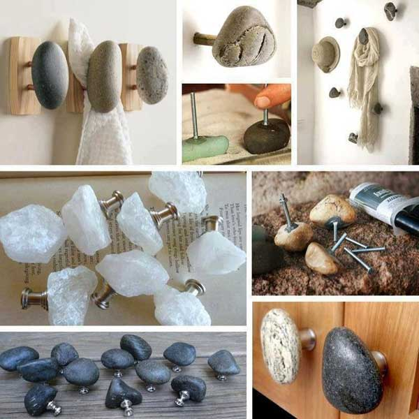36 examples on how to use river rocks in your decor through diy projects simple diy river rock hooks solutioingenieria Choice Image