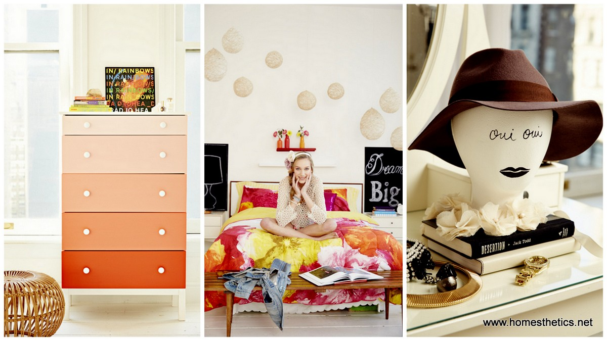 14 lovely girly diy room decor ideas for Room decor ideas handmade