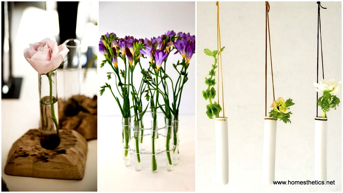 10 Diy Unique Test Tube Flower Vases