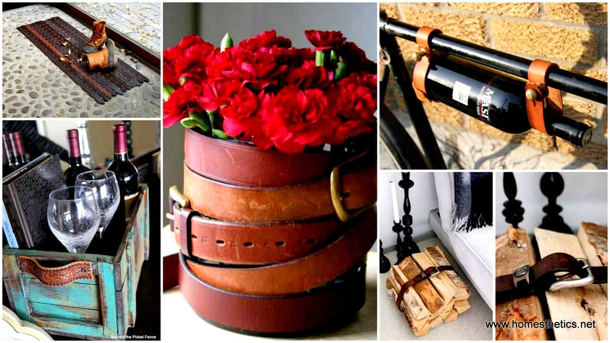 1 22 Ingenious Ways to Use Old Leather Belts in DIY Projects