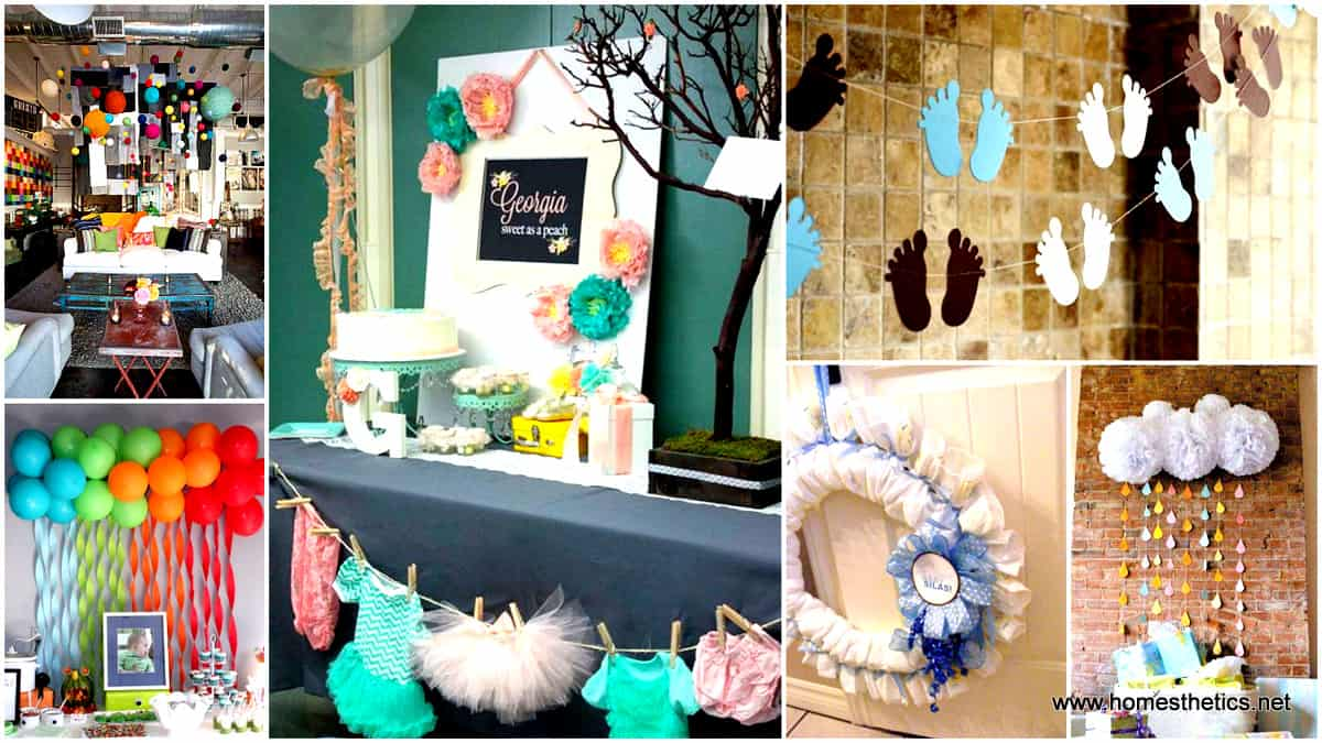 22 insanely creative low cost diy decorating ideas for for Baby shower decoration ideas diy