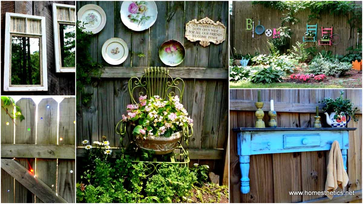 Get creative with these 23 fence decorating ideas and for Backyard decoration