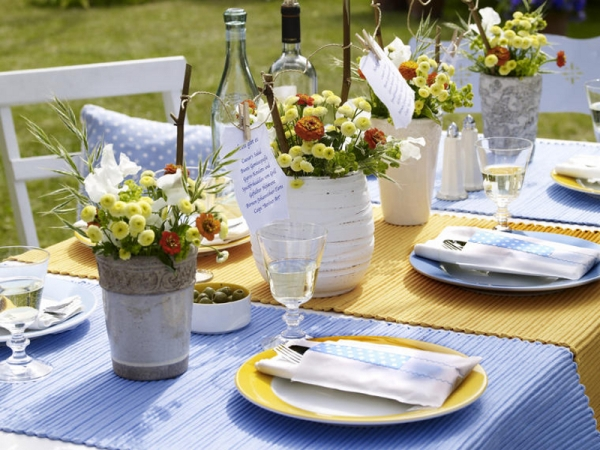 12 mesmerizing beautiful and fresh summer table decoration - Tavole apparecchiate moderne ...