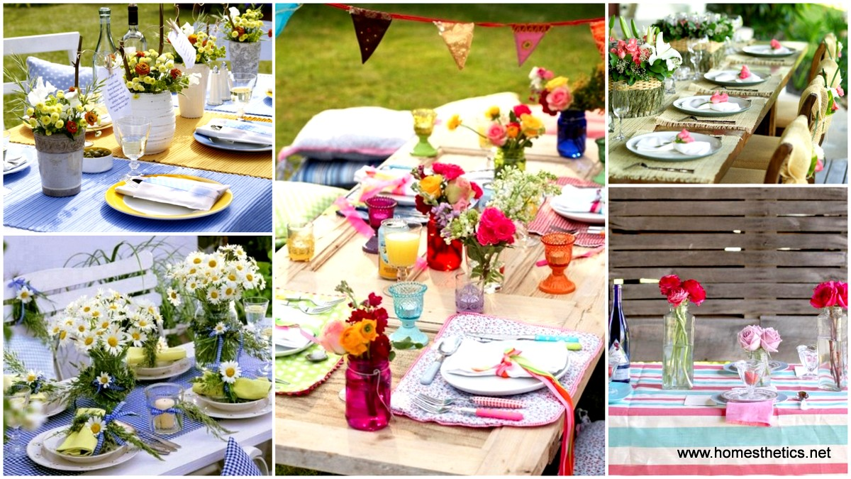 12 mesmerizing beautiful and fresh summer table decoration ideas - Beautiful Decoration Ideas