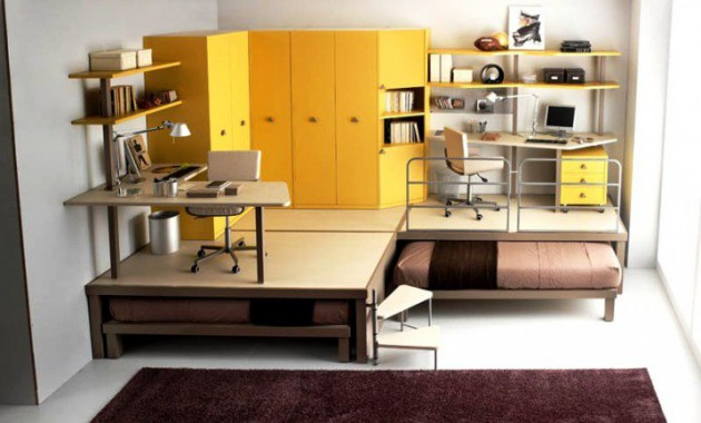 15 Ingeniously Smart and Functinable Bedroom Space Saving Solutions homestheitcs bed space saving (14)
