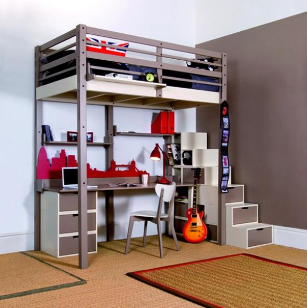 #1 Raise The Bed And Make Place For A Small Desk. 15 Ingeniously Smart And  Functinable Bedroom Space Saving ...