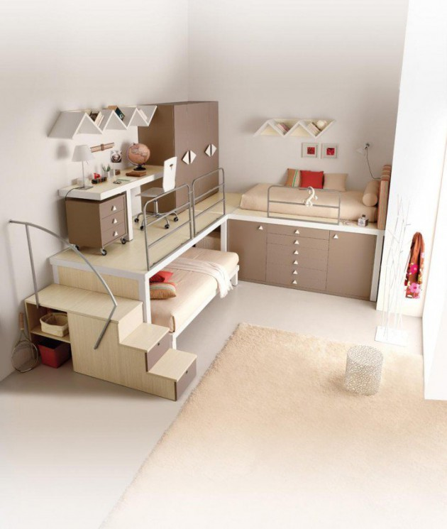 15 Ingeniously Smart and Functinable Bedroom Space Saving Solutions homestheitcs bed space saving (8)