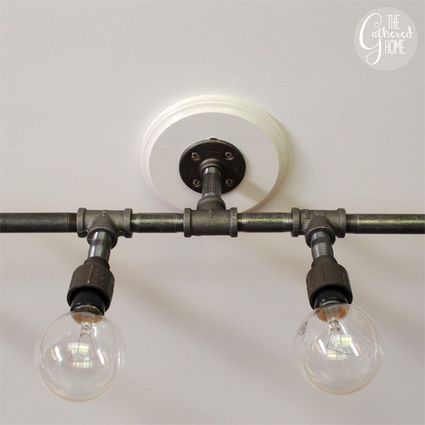 #4 CEILING LIGHT FIXTURE MADE FROM PIPES WITH REGULAR BULBS