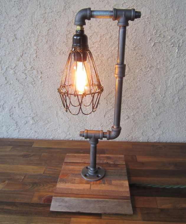 #3 SPECTACULAR DIY INDUSTRIAL LAMP WITH WIRE CASE AROUND THE LIGHT SOURCE