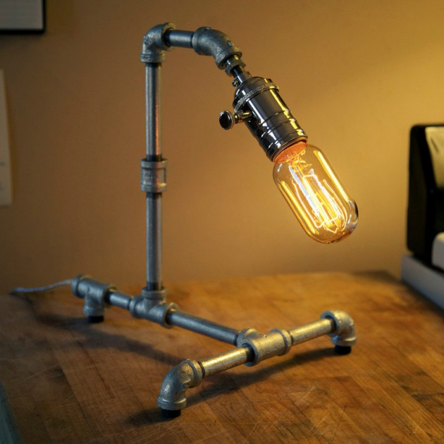 16 Sculptural Industrial DIY Pipe Lamp Design Ideas Able to ...