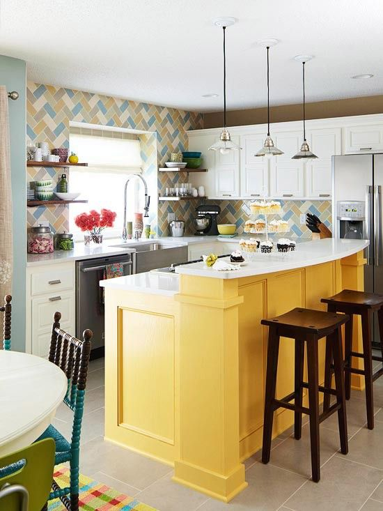 17 Colorful Kitchen Designs That Would Cheer Up Any Home Homesthetics 6