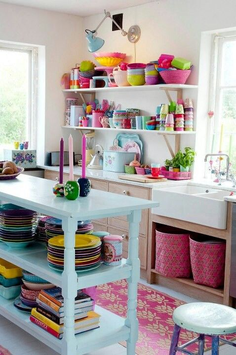 17 Colorful Kitchen Designs That Would Cheer Up Any Home - Colorful-kitchen-design