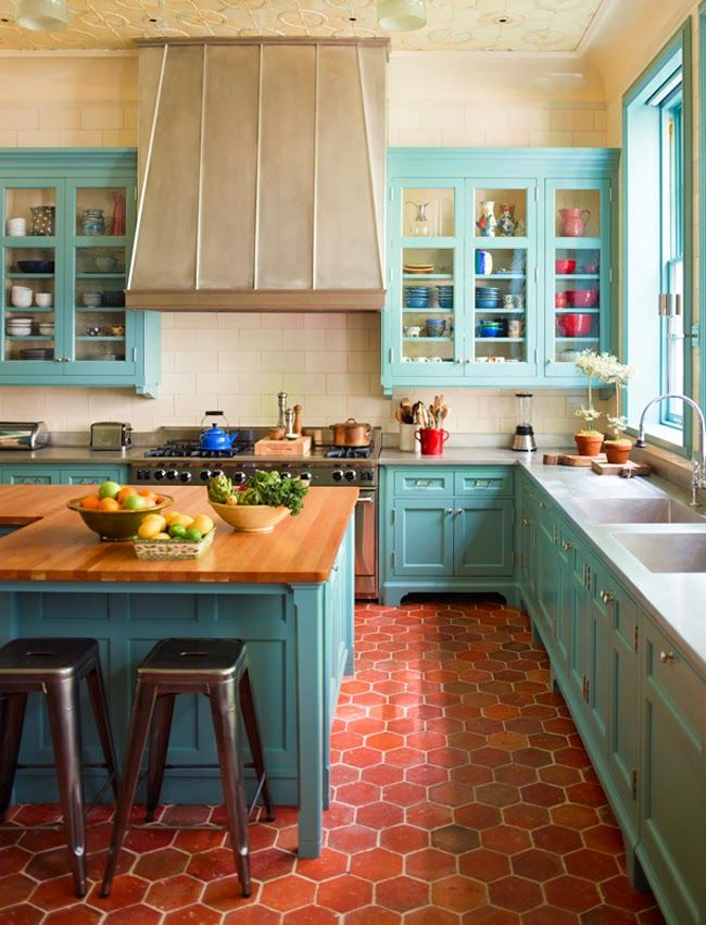Cute  Colorful Kitchens That Would Cheer Up Any Home homesthetics net