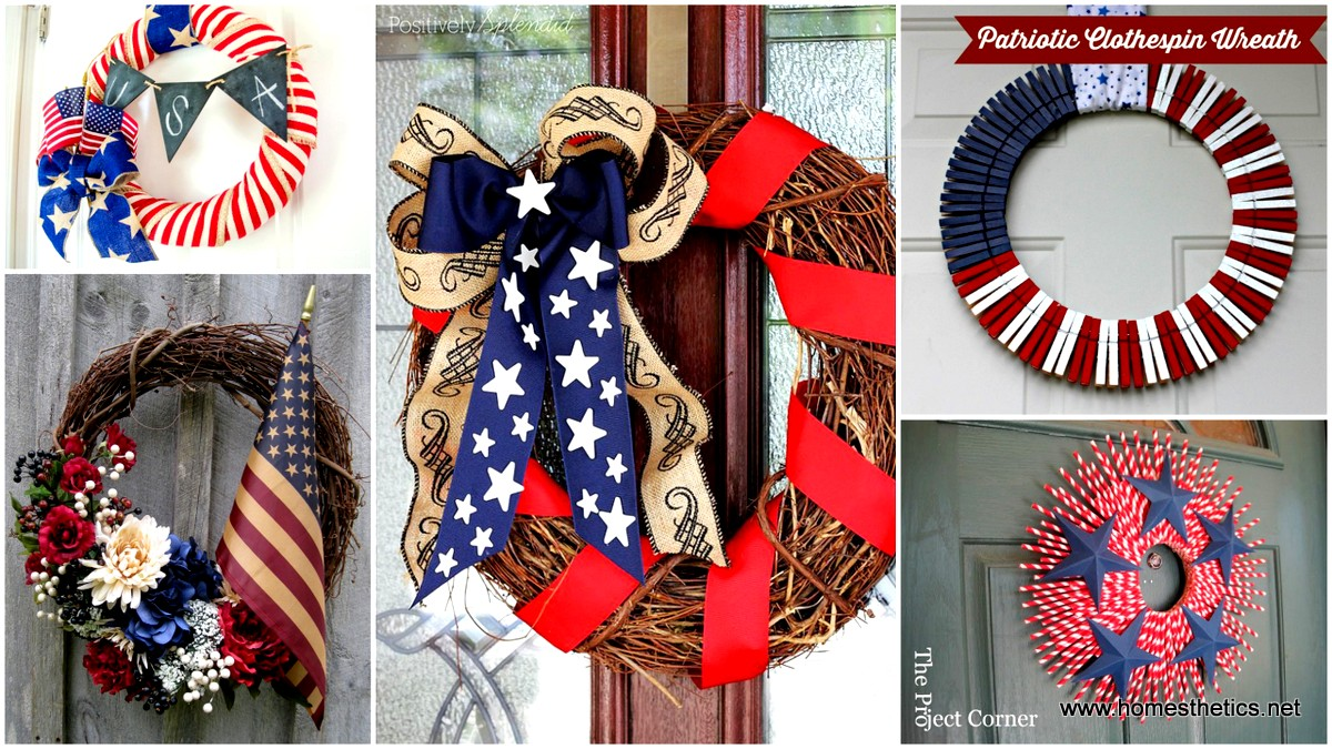 17 Patriotic DIY Wreath Ideas Ready to Welcome Guests Proudly 001