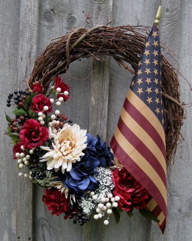 17 Patriotic DIY Wreath Ideas Ready to Welcome Guests Proudly homesthetics ideas (12)