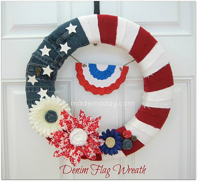 17 Patriotic DIY Wreath Ideas Ready to Welcome Guests Proudly homesthetics ideas (14)