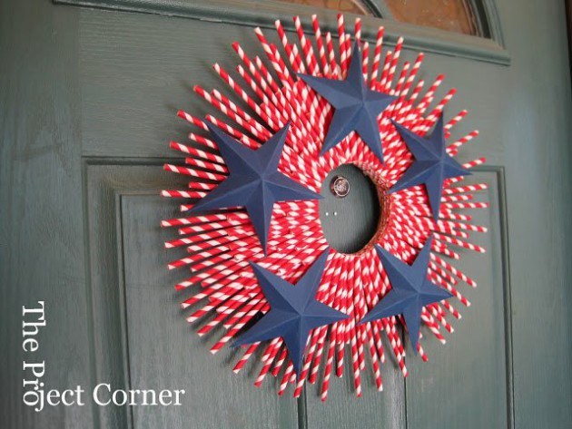 17 Patriotic DIY Wreath Ideas Ready to Welcome Guests Proudly homesthetics ideas (17)