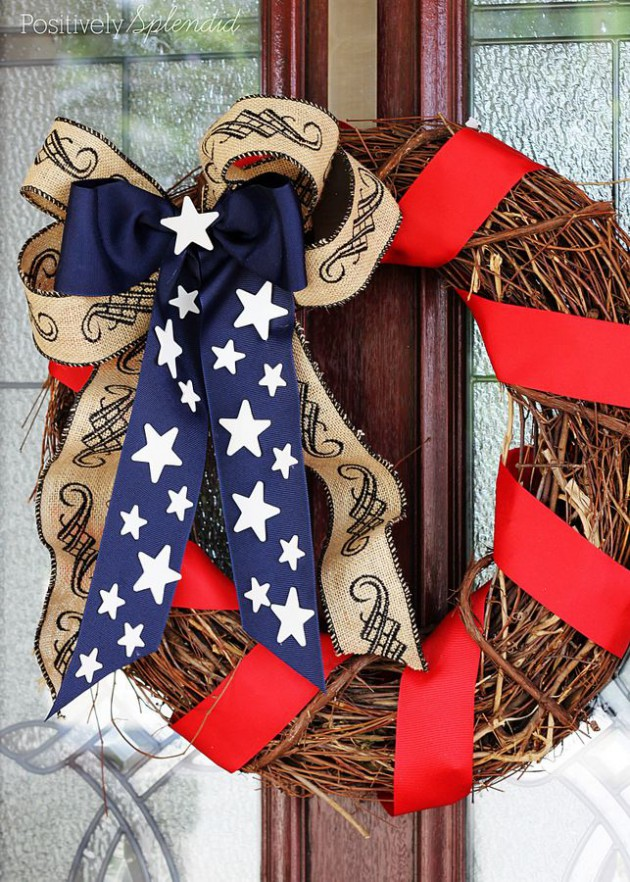 17 Patriotic DIY Wreath Ideas Ready to Welcome Guests Proudly homesthetics ideas (2)