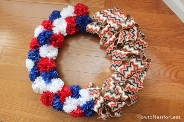 17 Patriotic DIY Wreath Ideas Ready to Welcome Guests Proudly homesthetics ideas (8)